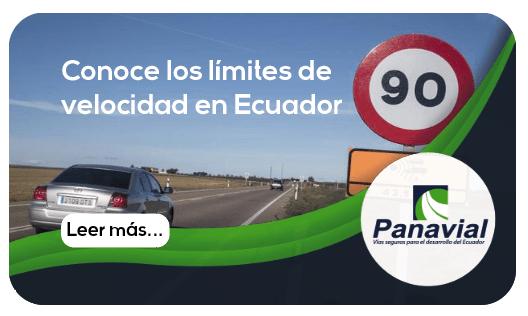 Los límites de velocidad en Ecuador